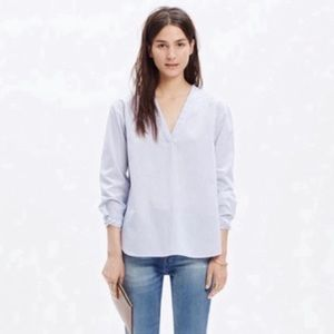 Madewell Constant Popover Shirt Vertical Stripe XS
